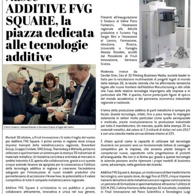 Additive FVG Square on Realtà Industriale
